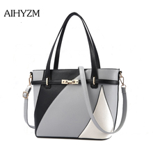 AIHYZM Fashion Women Shoulder Bag Panelled Handbags Women Bags Designer Crossbody Bags For Women  High Quality PU  Leather Bag