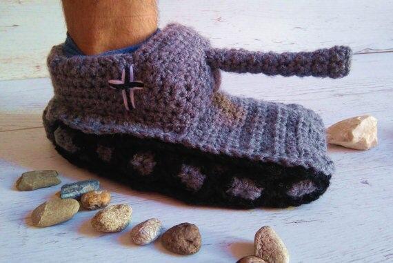 Online Shop Crochet Tank Slippers Baby Tank Slippers Boyfriend Gifts