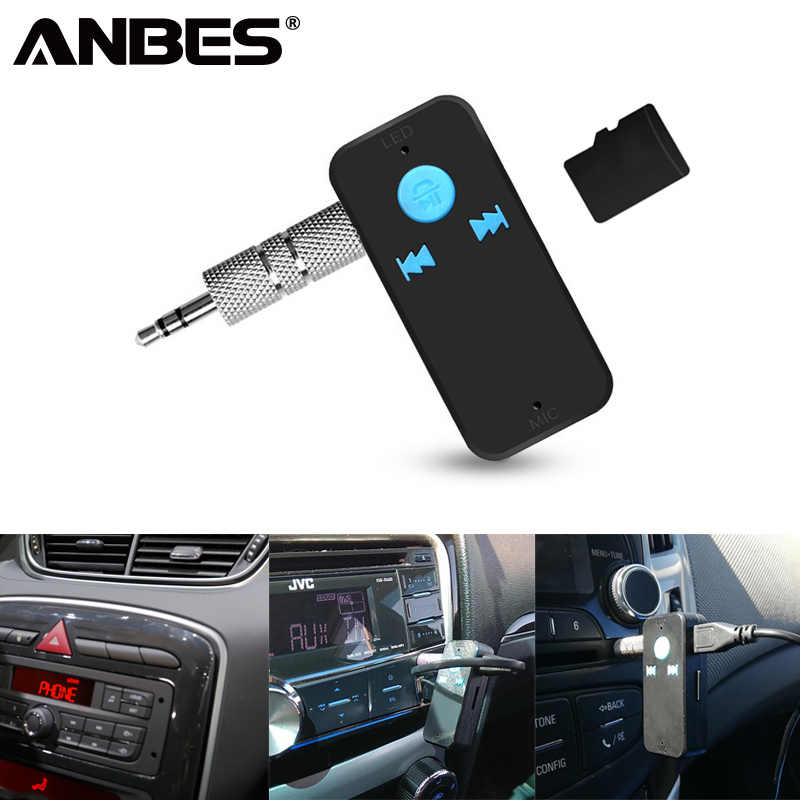 USB Bluetooth Receiver 3 in 1 Wireless 4.0 Bluetooth Adapter 3.5mm Audio Jack TF Card Reader MIC Call Support For Car Speaker X6