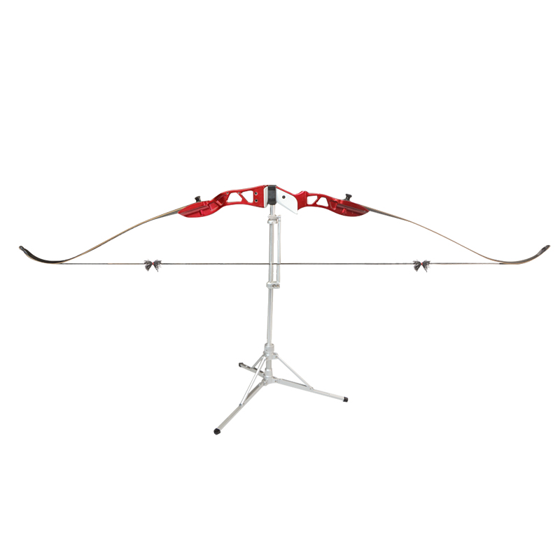 Archery Bow Stand Aluminum Alloy Automatic Shrinkage Foldable Recurve Bow Holder Bracket Rack Hunting Shooting Bow Accessories in Bow Arrow from Sports Entertainment