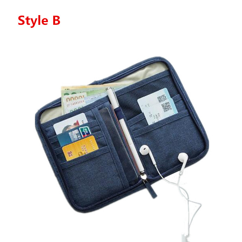 Travel Passport Cover Bag Wallet Credit Card ID Holder Package USB Data Charging Cable Key Storage Organizer Accessories Supply neck hanging travel accessory passport cover wallet credit id card holder air tickets package case unisex storage organizer bag