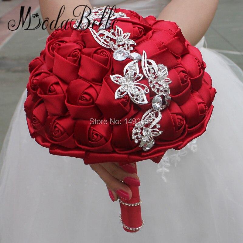 Online Get Cheap Burgundy Bridal Bouquets Aliexpress