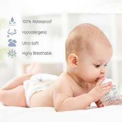 Summitkids 180X200cm Smootht Top 100% Waterproof  Mattress Protector Bed Sheet Dust Mite Hypoallergenic Crib Bed Cover