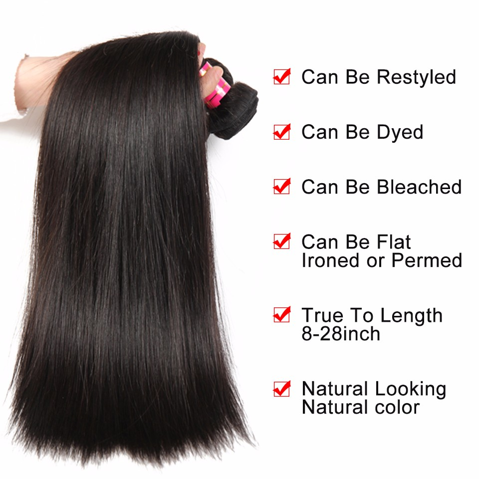 straight brazilian hair weave bundles