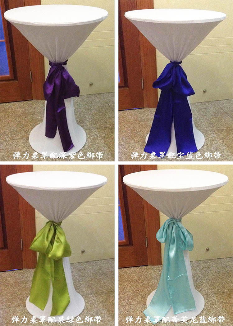 Hotel Tablecloth Cocktail Antependium High Table Coffee Elastic Table Cloth  Bar Table Stretch Cover Spandex Cover In Tablecloths From Home U0026 Garden On  ...