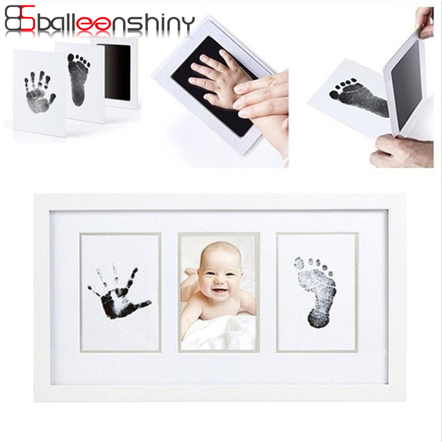 BalleenShiny Baby Handprint Footprint Ink Pads Newborn Inkpad Safe Clean Touch Non-Toxic Infant Souvenirs Stamp-pad Ink Toy Gift