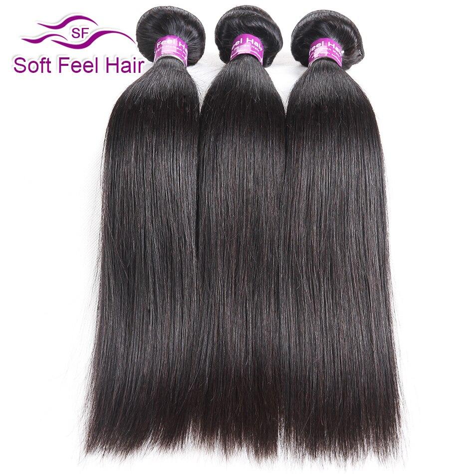 Soft Feel Hair Peruvian Straight Hair 3 4 Bundles Deal Human Hair Weave Bundles Remy Hair