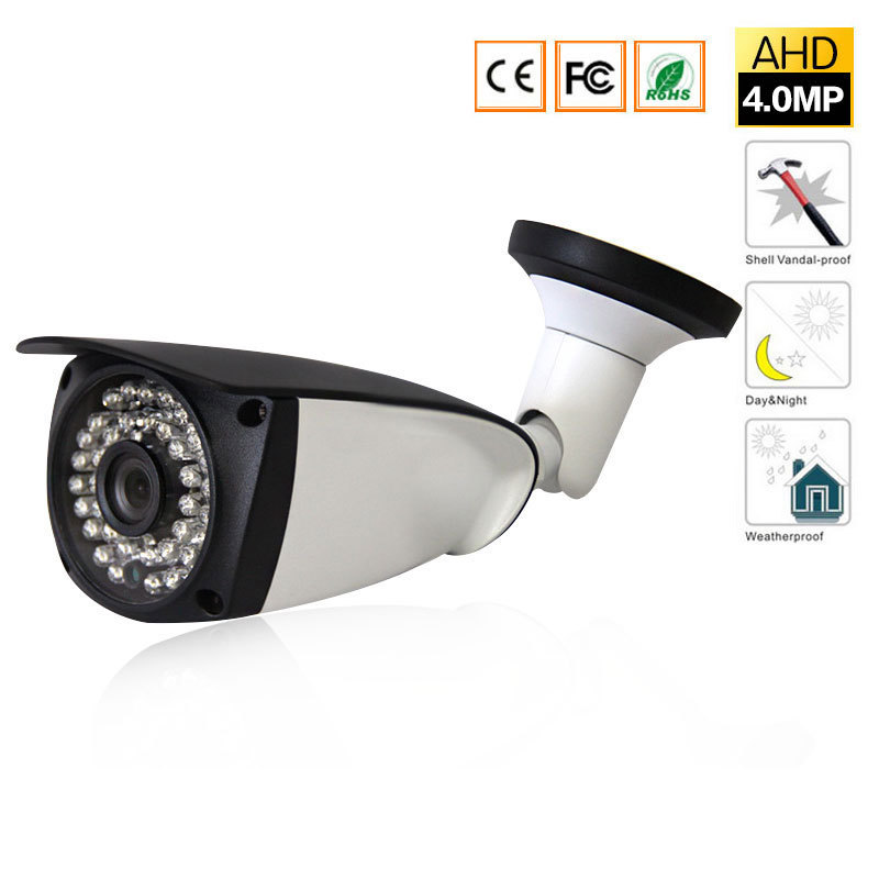 cctv  HD 4MP AHD Security Camera Outdoor Waterproof infrared leds Metal Bullet Surveillance night vision 4MP CCTV Camera new 2mp hd 1080p ahd security camera cctv white metal mini bullet video surveillance waterproof ir night vision vandal proof