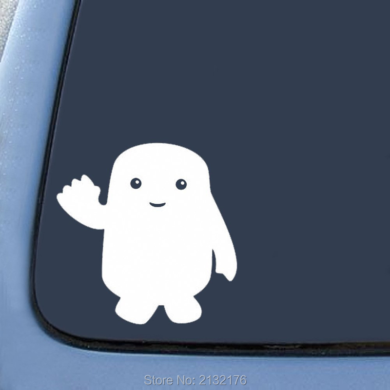 Adipose Inspired Doctor Who Note Bumper Sticker Decal Car window Premium Quality White die cut vinyl decal 6 White