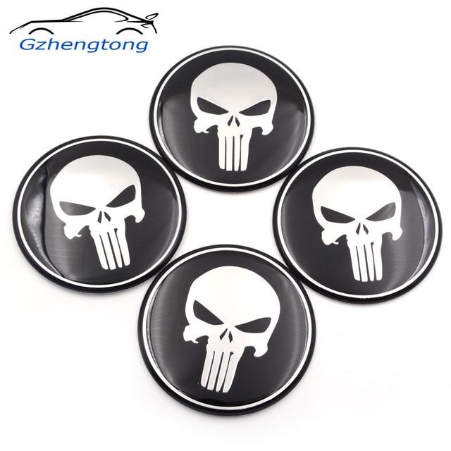 Gzhengtong Cool Punisher Car Steering Tire Wheel Center Car Sticker