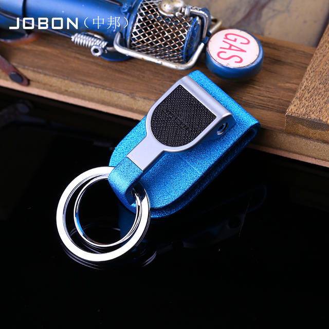 Jobon zhongbang quality key ring car male strap keychain metal key chain gift