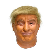 Donald Trump Costume Mask Halloween Realistic Latex Masquerade Carnival Hood Celebrity Face COS Star Imitation Show