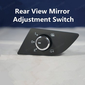 Polarlander Kaliteli Krom Dikiz Aynası Ayar Düğmesi 56D959565b Yeni P/assat Araba yan görüş aynası Topuzu
