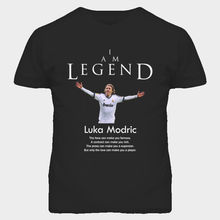 Luka Modric Croatia Legend Soccer Futbol T Shirt funny 100% Cotton t shirt