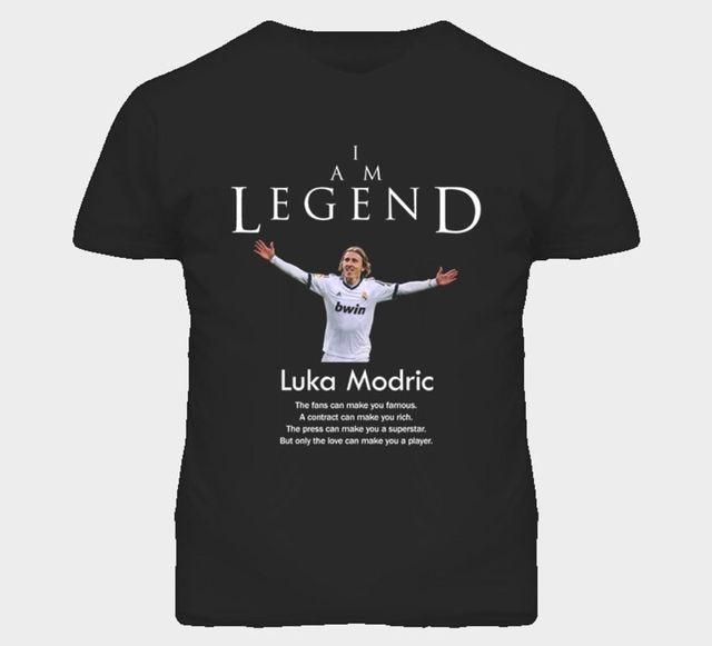 6d2e48dd967 Luka Modric Croatia Legend Soccer Futbol T Shirt funny 100% Cotton t shirt