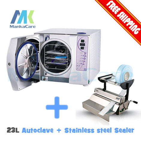 Class B 23 Liters Steam Sterilizer 23L Vacuum Steam Dental Autoclave Sterilizer without printer and sealer autoclave 12 liters dental sterilizer class b without printer medical dental lab equipment disinfection cabinet discount