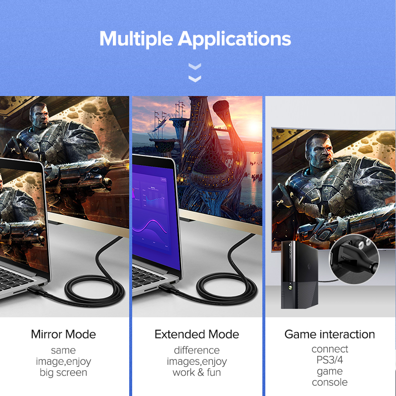 Consumer Electronics ... Accessories & Parts ... 32396260996 ... 3 ... Ugreen HDMI Cable 4K 2.0 Cable for Apple TV PS4 Splitter Switch Box HDMI to HDMI Cable 60Hz Video Audio Cabo Cord Cable HDMI 4K ...