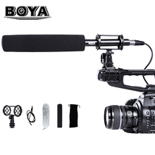 BOYA PVM1000 Professional Condenser Microphone Unidirectional Camcorder Shotgun Microphone with Windshield For Camcorder DSLR