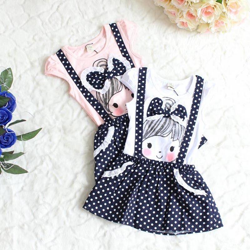 Baby Girls Short Sleeve Dress Girls Kids Polka Dot Dress Clothes Overalls Dress baby girls short sleeve dress girls kids polka dot dress clothes overalls dress