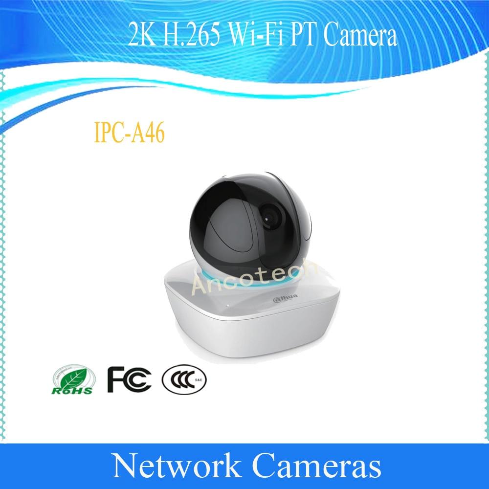 Livraison gratuite DAHUA 2 K QHD H.265 WIFI PT caméra IP de sécurité 4MP jour/nuit réseau dôme caméra DH-IPC-A46