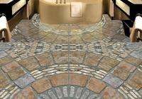 Custom Pvc Self Adhesive Luxury 3d Flooring Wallpaper Cobblestone 3d Floor Tiles Wallpapers For Living Room