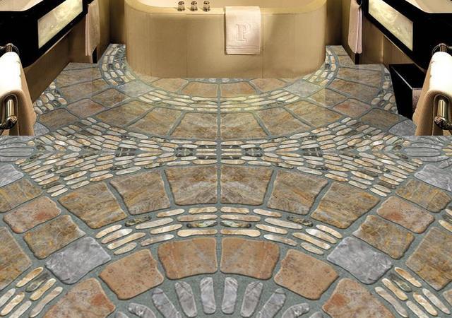 Pvc adesivo personalizzato di lusso d pavimenti in carta da