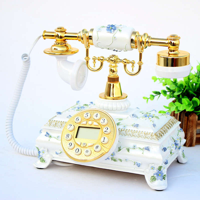 Fashion retro European Garden antique home office fixed landline telephone Decoration home art phone Caller ID backlit