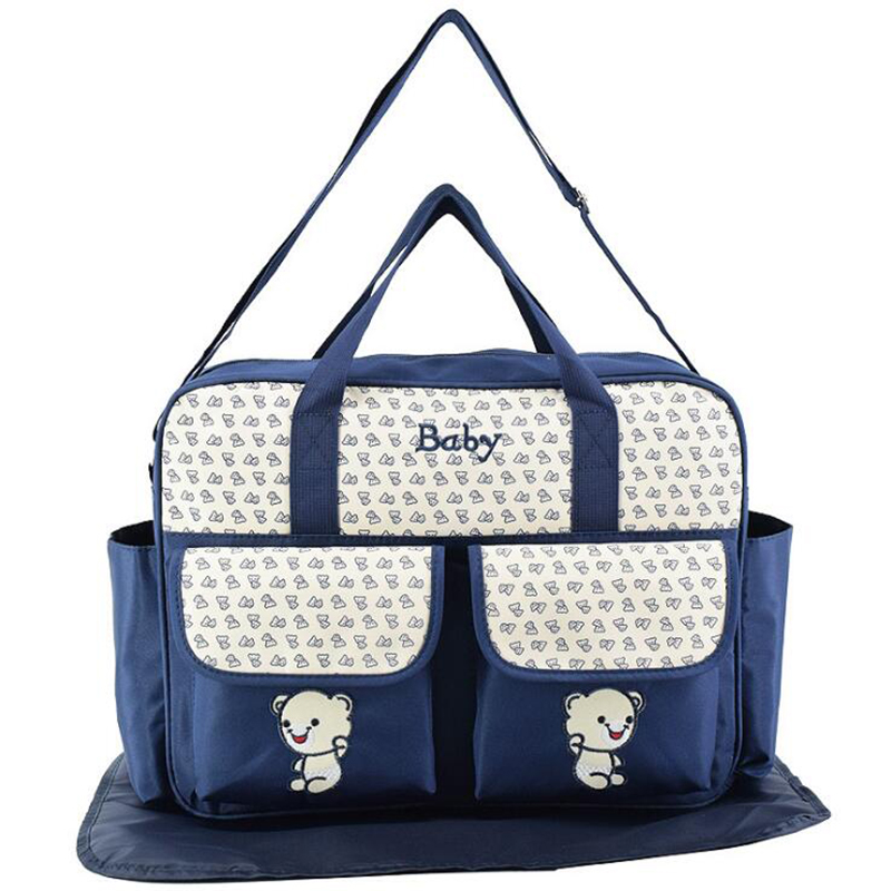Maternity Diaper Handbag Cartoon Bear  Large Capacity Mummy Nursing Bag Handbag Baby Stroller Bags