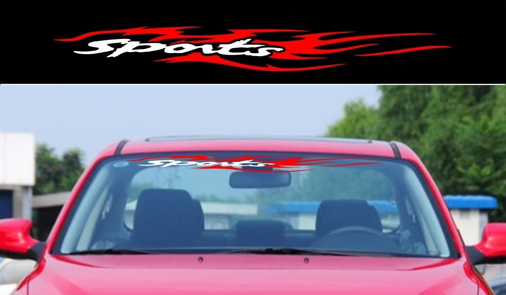 Aliexpresscom  Buy Car Sports Flames Fire Windshield Decals - Window clings for car sports