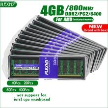 PLEXHD настольный компьютер 10 шт. Память ОЗУ DDR2 800 модуль памяти PC2 6400 4 ГБ 8 ГБ(2 шт* 4 Гб) совместимость 800 МГц для AMD