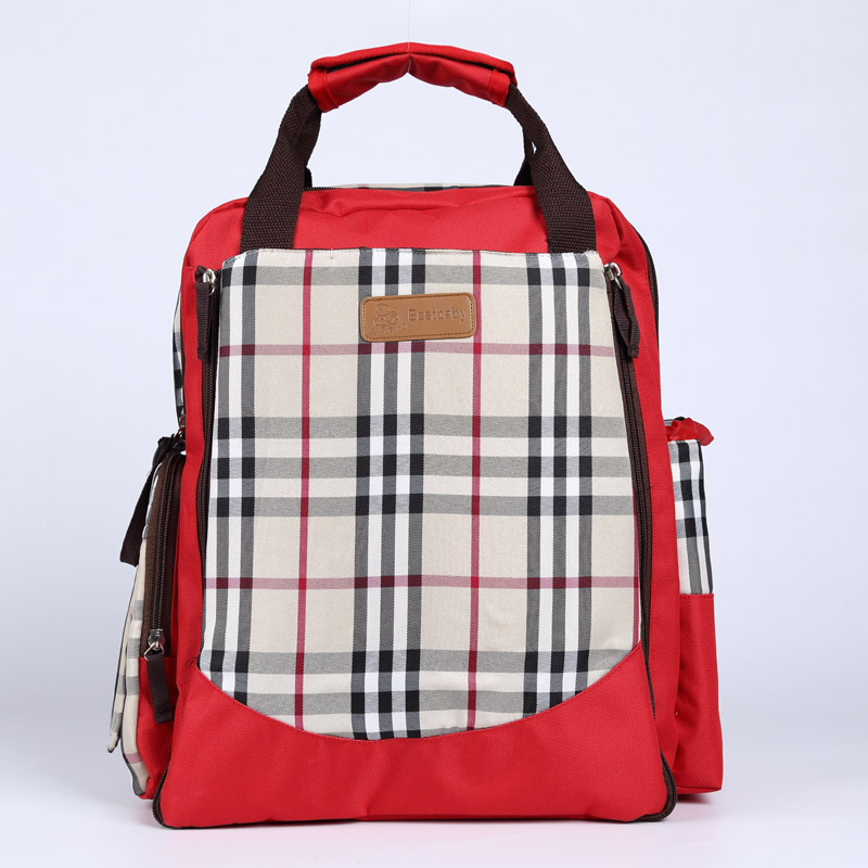 ФОТО Mummy Classic Plaid Multifunction Large Capacity Handbag Shoulder Bag Backpack Waterproof Maternity Diaper Bag Baby Care Product