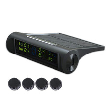 Solar Power Charging TPMS Tyre Pressure Monitoring System Wireless  Digital LCD Display Car Alarm Tool Car Electronics