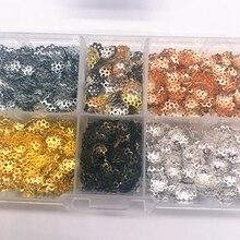 Мм Цветочная фурнитура шт. 6 мм полые 500 конус Конец Бусины кепки филигрань DIY ювелирных изделий