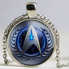 New Fashion Star Trek Necklace Star Trek Pendant Science Medical or Operations pendent Glass Dome Necklace