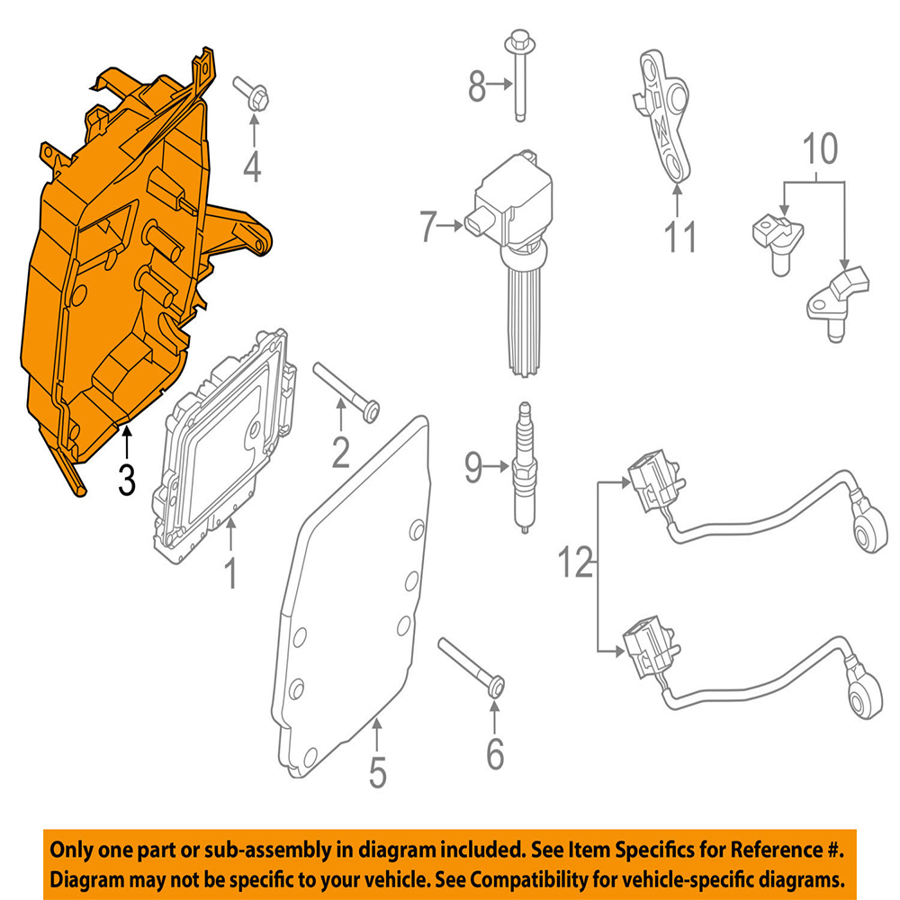 engine control module ignition bracket cover fit for ford focus 2013 2016 cv61 12a659 cc av61 12a532 ac in ignition coil from automobiles motorcycles on  [ 1000 x 1000 Pixel ]