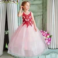 Enfants robes florales robe de mariée pour fille enfants princesse robe de fête de noël vestido de festa longo filles adolescentes vêtements 6-14T
