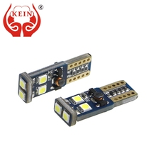 KEIN 2pcs t10 Bulb w5w led car T10 led CANBUS 3030 auto 194 501 168 Side Wedge Parking Light 12V white car styling Signal Lamp 2 x led car clearance parking lights t10 w5w 168 192 led car side wedge light 6000k white blue lamp bulb car styling 12v