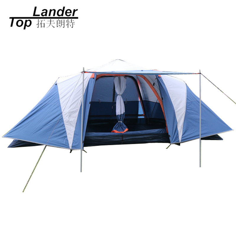 Quick Automatic Tent for Camping 5 to 8 Person Family Automatic Tents Two Rooms Outdoor Waterproof Double Layer Tent alltel outdoor big quick open tent fully automatic two hall 6 8 person double layer tent against big rain large family tent