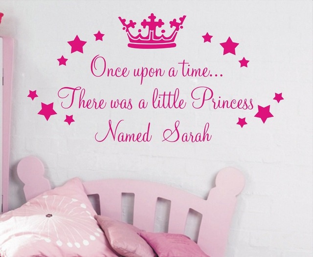 Personalised Wall Sticker Once Upon A Time Princess Quote