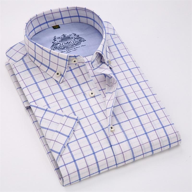 VISADA JAUNA Män Skjorta Pläd kortärmad Casual Brand Kläder - Herrkläder - Foto 2