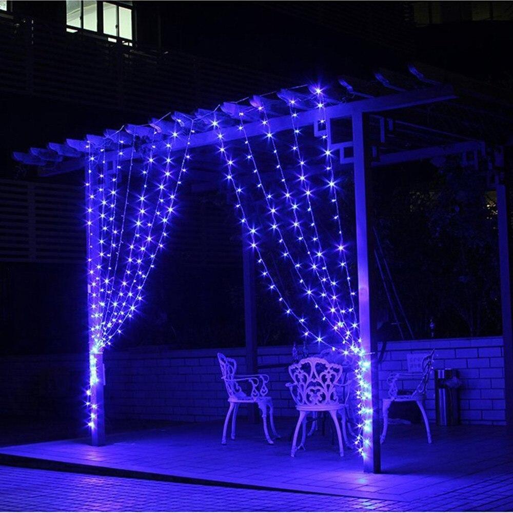 3 M x 3 M 300 LED xmas Dize Peri Perde Garlands Şerit Parti - Şenlikli Aydınlatma - Fotoğraf 4