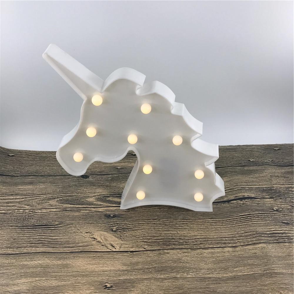 Novost samoroga v obliki glave živalska svetilka toplo bela sijaj 3D - Notranja razsvetljava - Fotografija 5