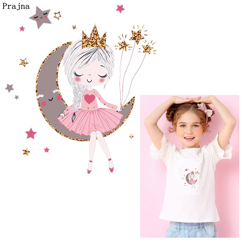 Prajna Fashion Girl Iron On Transfer Cute Magic Giraffe Thermal Heat Summer Style Patches For Clothing Kid T-shirt