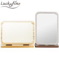 Wooden Folding Desktop Table Makeup Mirror 3x Magnifying Foldable Rectangle Cosmetic Girls Dressing Make Up Vanity