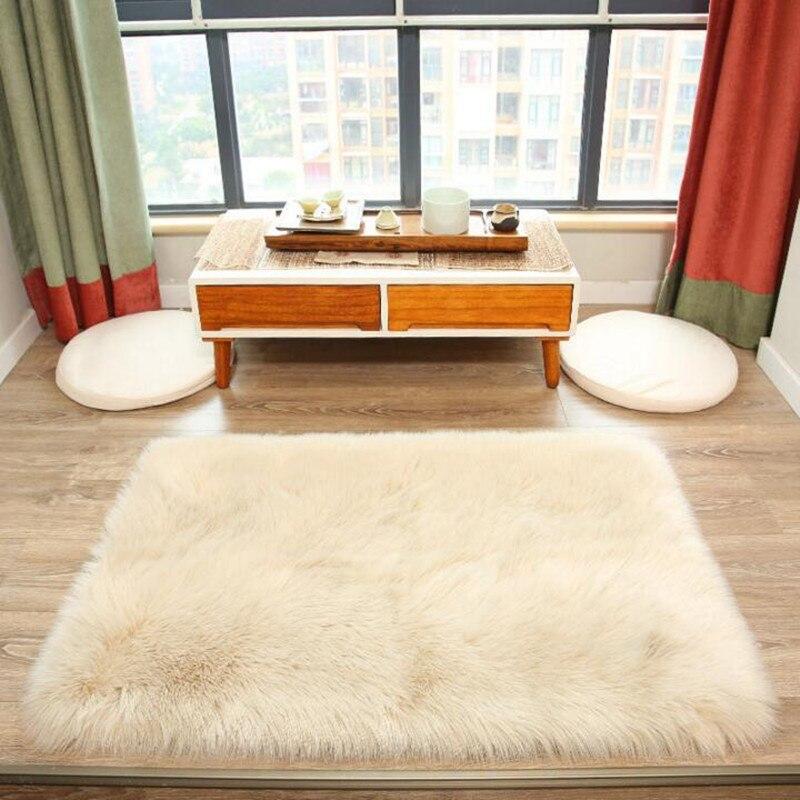 Окно коврики Спальня Ковры прикроватной тумбочке Одеяло Гостиная Ковры комнаты Кофе Таблица Одеяло обтянутый