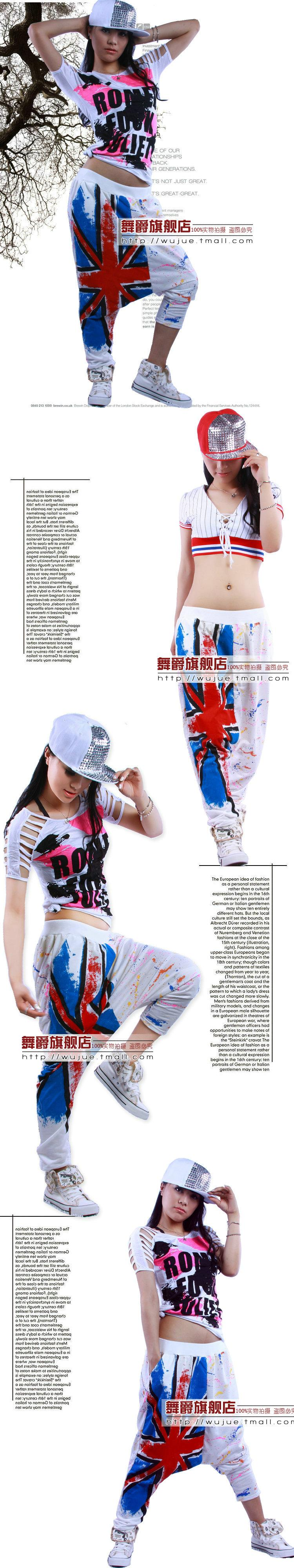 2013 Brand New Jazz harem perempuan celana hip hop menari doodle musim semi & musim panas Celana neon longgar Kasual permen warna sweatpants