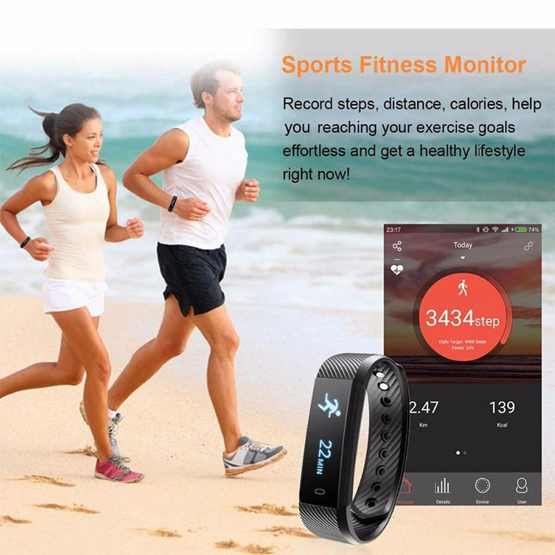 High Quality Smart Sports Bracelet Heart Rate Bracelet Can Count Step Information Push Activity Tracker Smart Watch