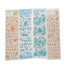 1pcs/lot Kawaii Bread Cat Whale For handmade products the beautiful PVC Decoration Multifunction stationery stickers(China)