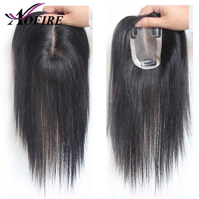 Tupé de cabello humano 100% para mujeres y hombres 10*7 Tamaño Pre desplumado línea de cabello Natural 8-12 brasileño cierre de cabello virgen con Clips