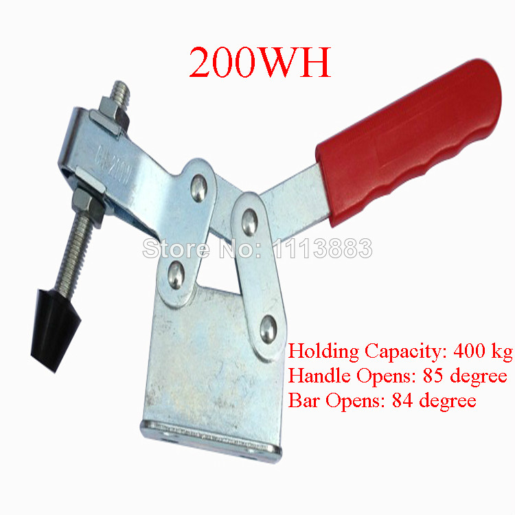 2PCS 400KG 882LBS Hand Tool Metal Horizontal Type Toggle Clamp 200WH in Clamps from Home Improvement